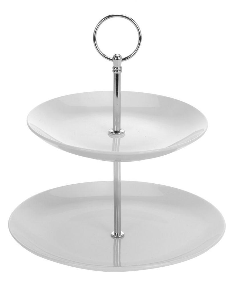 Patera dwupoziomowa - etażerka ceramiczna