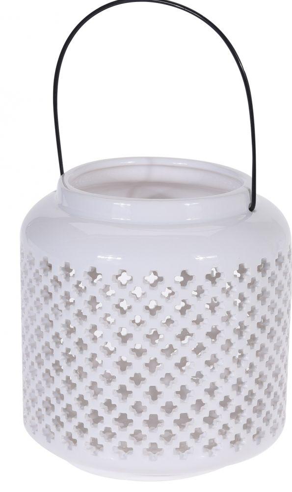 Lampion ceramiczny biały II