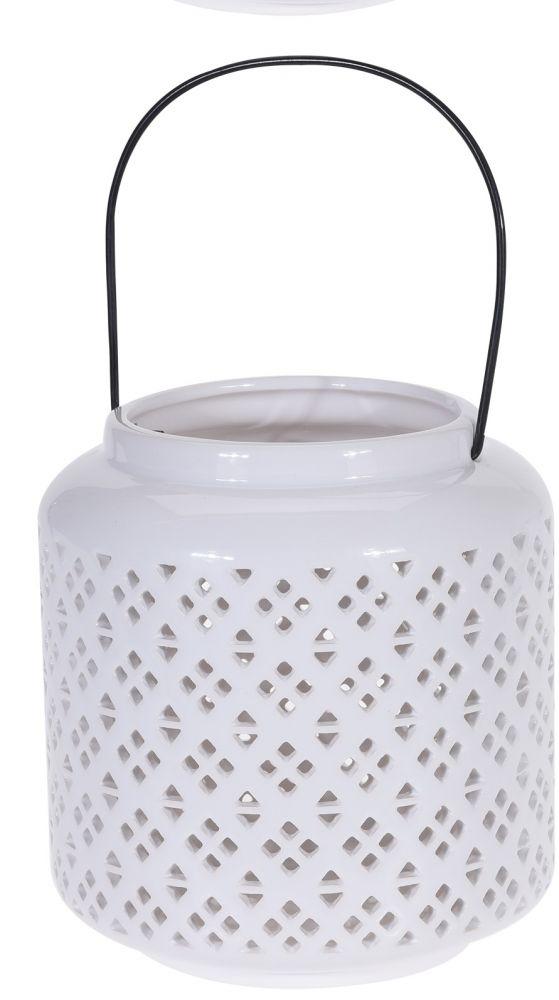 Lampion ceramiczny biały I