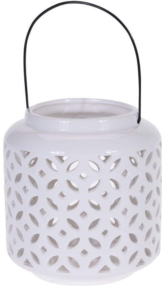 Lampion ceramiczny biały III