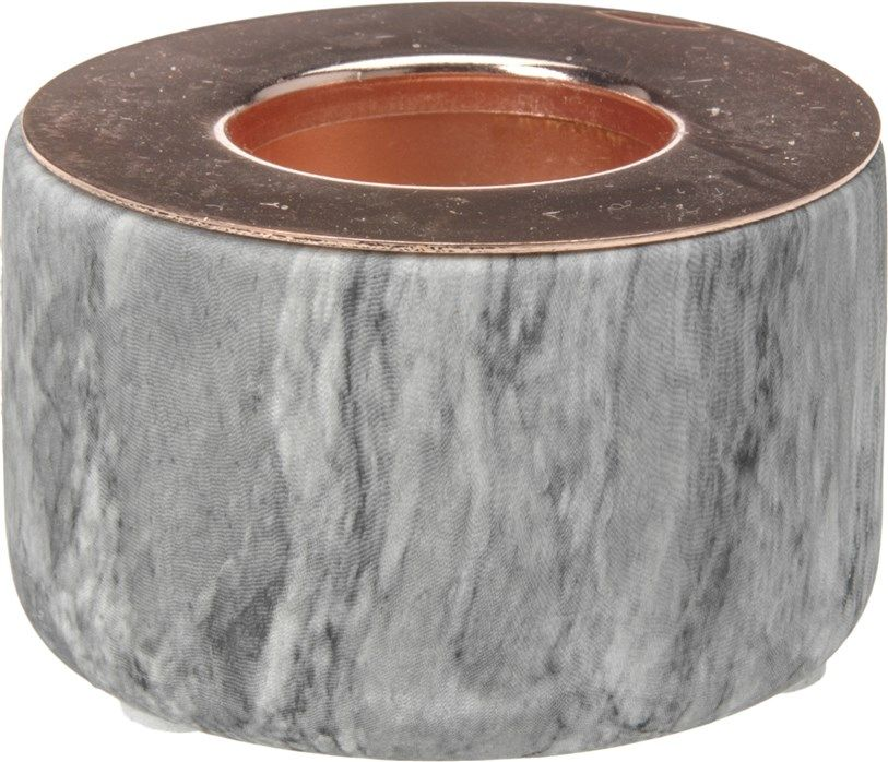 Świecznik ceramiczny na tealight szary