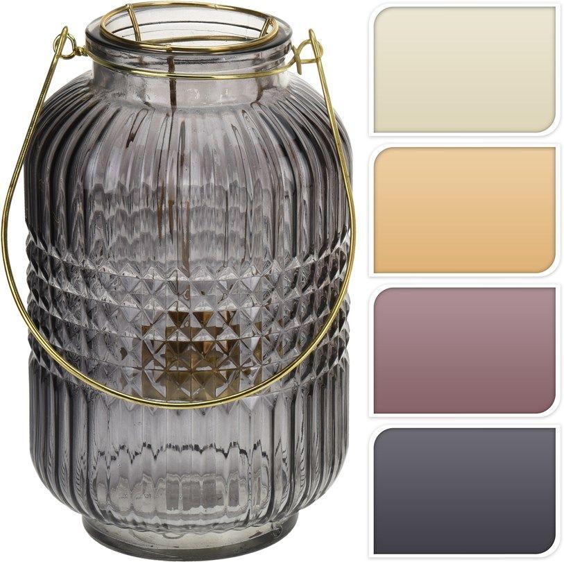 Lampion szklany, wys 24 cm
