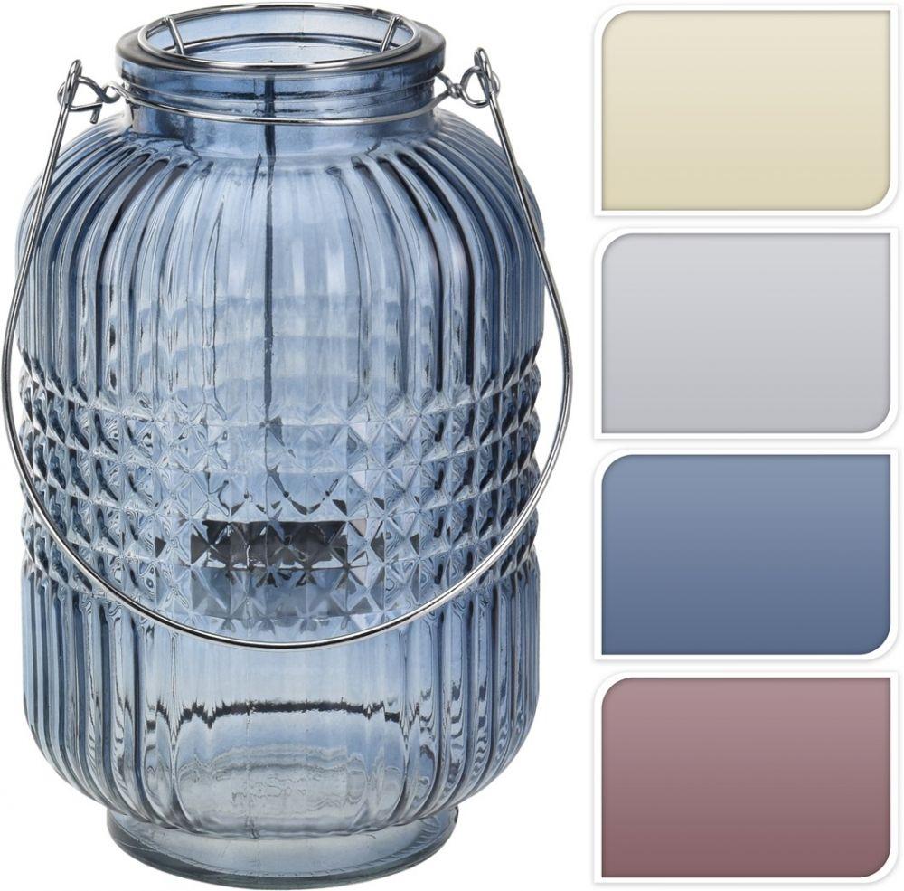 Lampion szklany, wys. 24 cm