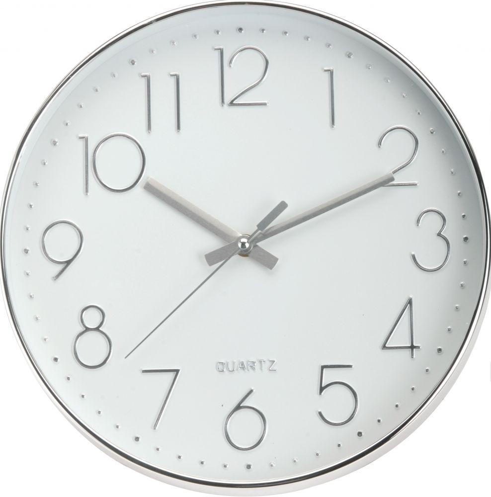 Zegar ścienny - srebrny I