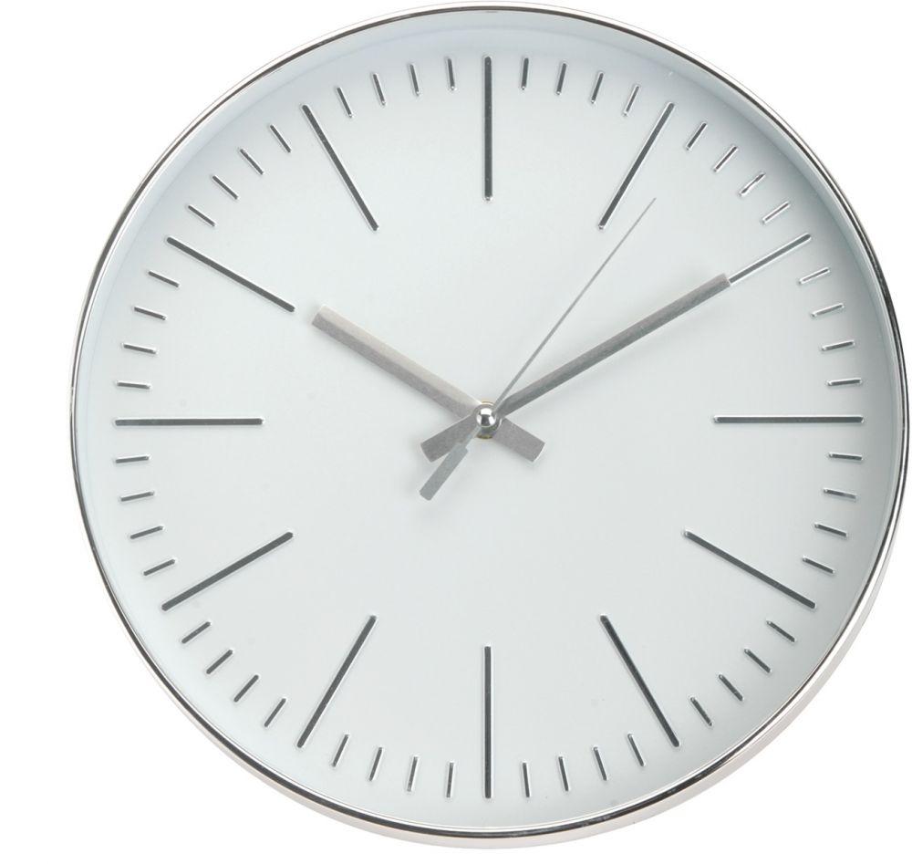 Zegar ścienny - srebrny III