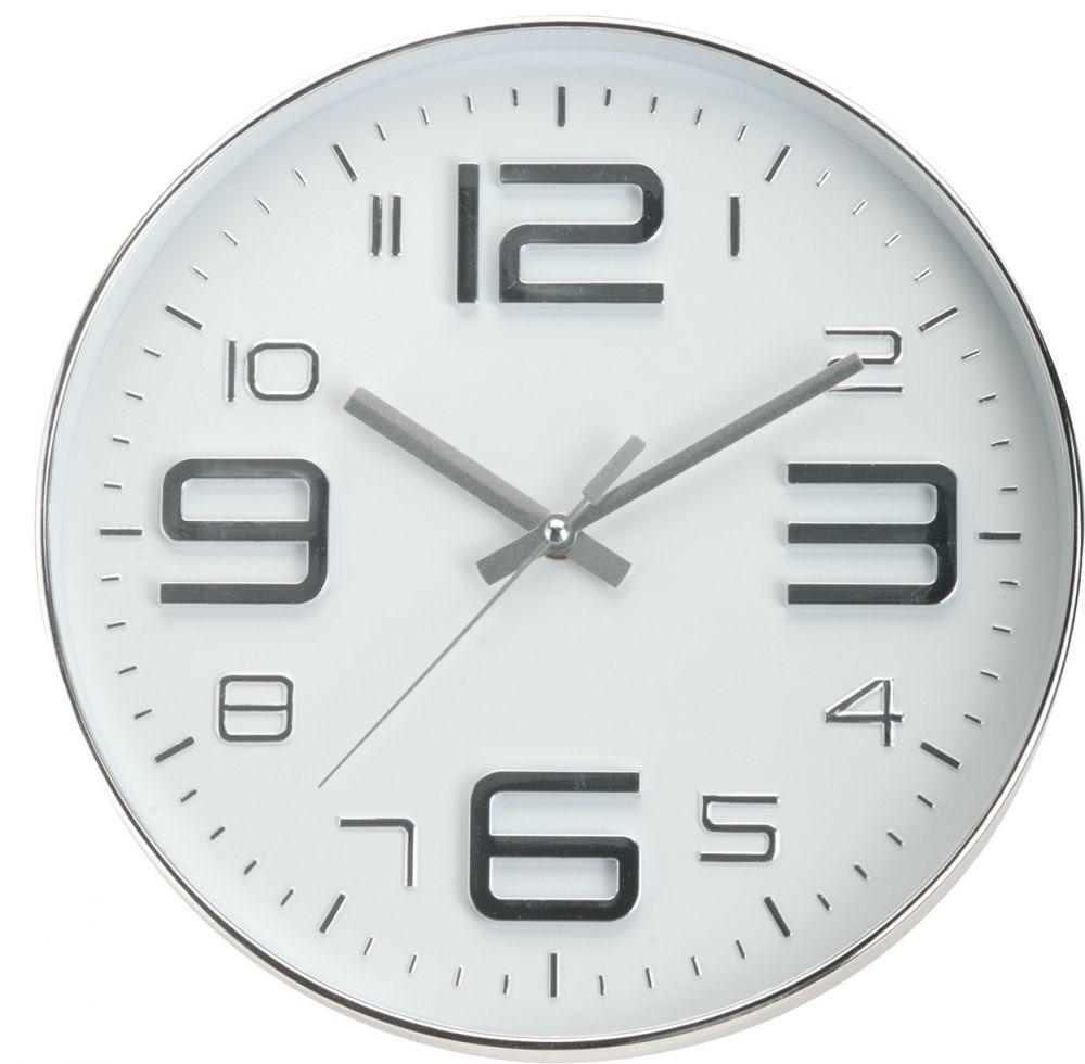 Zegar ścienny - srebrny II