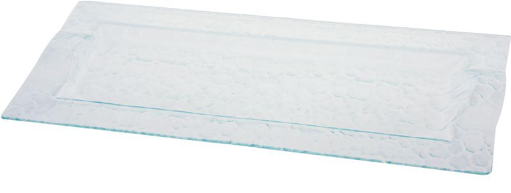 Patera szklana, dług. 46 cm