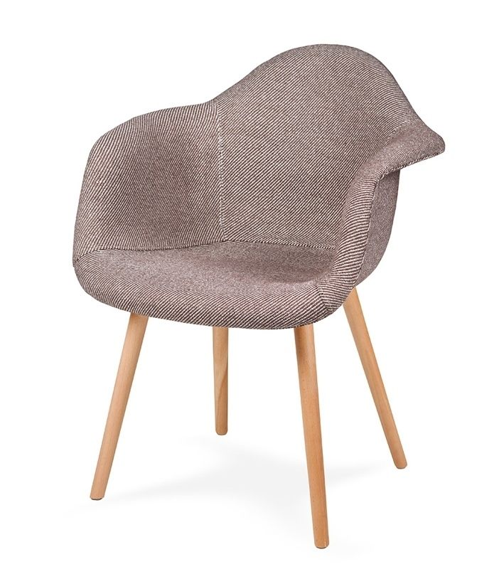 Fotel PLUSH BEŻOWA ZEBRA - podstawa bukowa