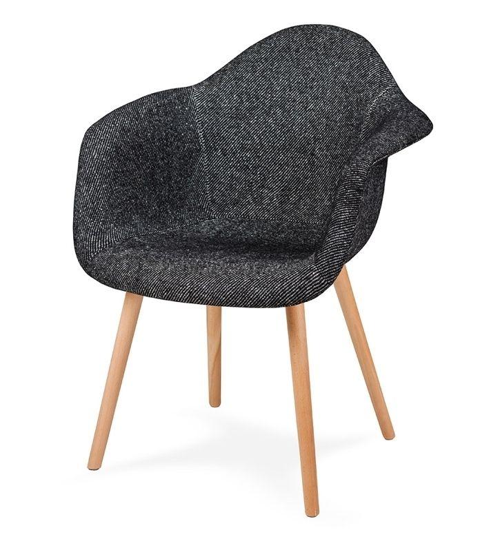 Fotel PLUSH ZEBRA - podstawa bukowa