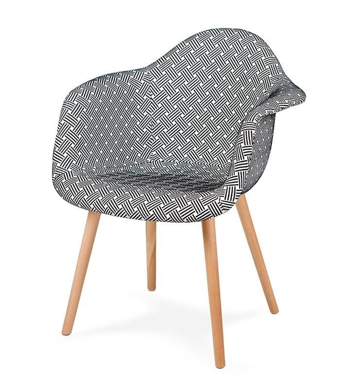 Fotel PLUSH splot - podstawa bukowa