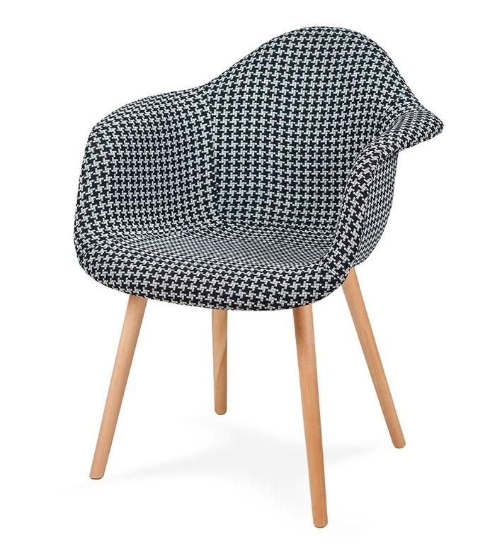 Fotel PLUSH tetris - podstawa bukowa
