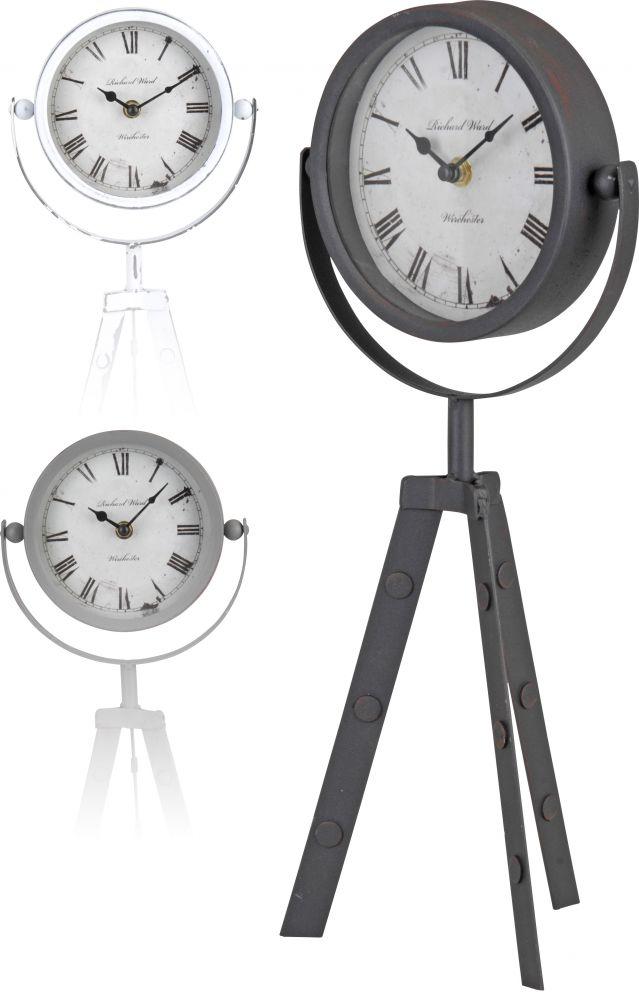 Zegar stołowy na trzech nogach - jasno szary