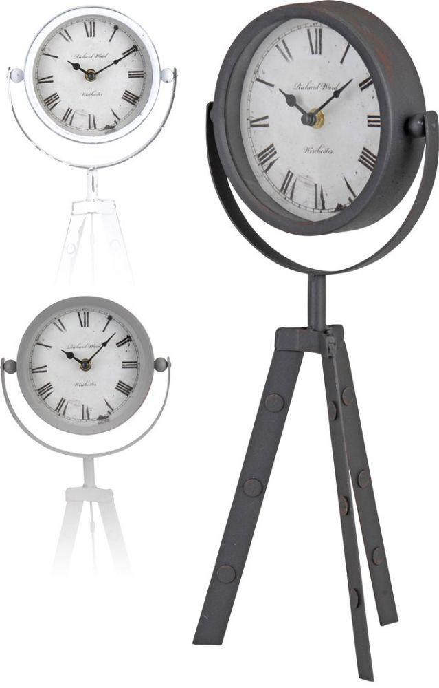 Zegar stołowy na trzech nogach - biały