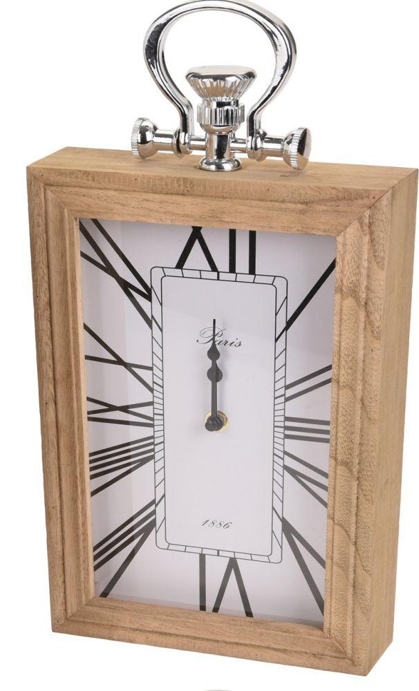 Zegar stojący w drewniane obudowie