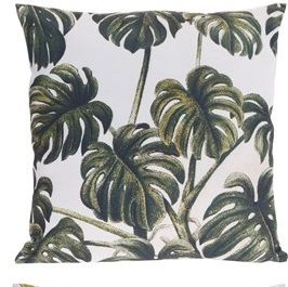 Poduszka z motywem liścia - filodendron