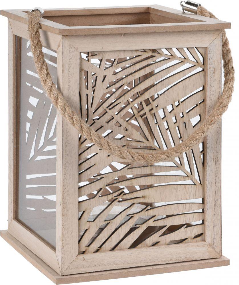 Lampion  z motywem liścia, wys. 25,5 cm
