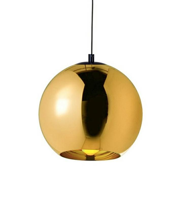 LAMPA BOLLA UP GOLD 25 - SZKŁO METALIZOWANE