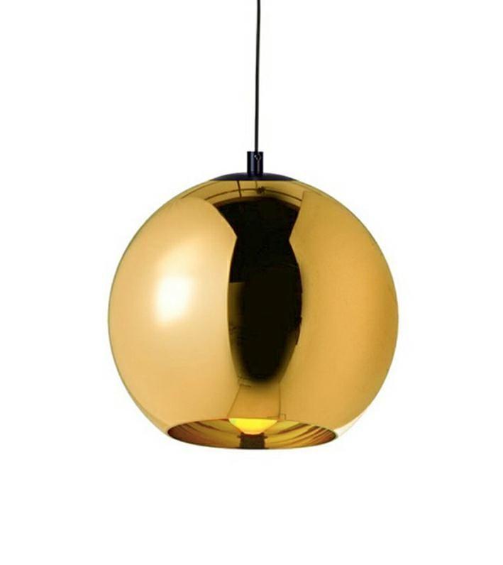 LAMPA BOLLA UP GOLD 30 - SZKŁO METALIZOWANE