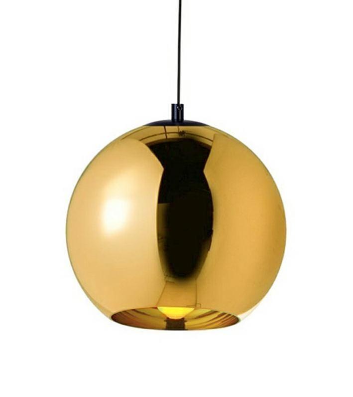 LAMPA BOLLA UP GOLD 35 - SZKŁO METALIZOWANE