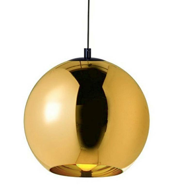 LAMPA BOLLA UP GOLD 40 - SZKŁO METALIZOWANE