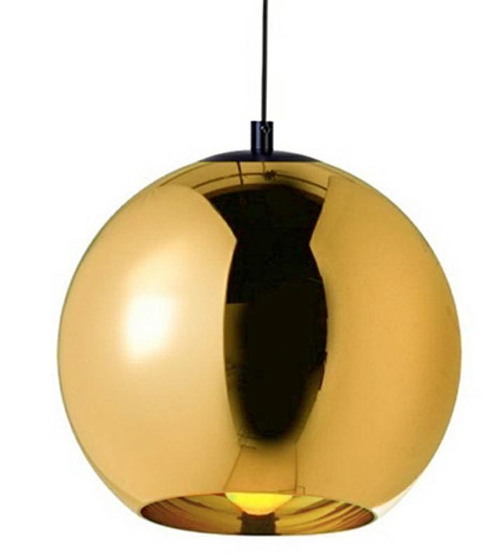 LAMPA BOLLA UP GOLD 45 - SZKŁO METALIZOWANE