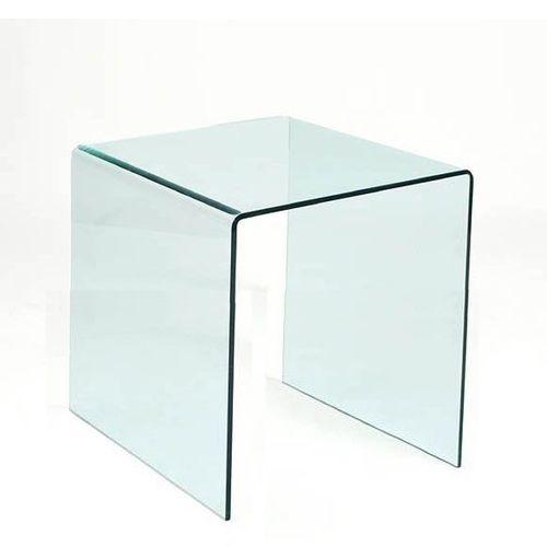 Stolik szklany PERSOS B transparentny - szkło