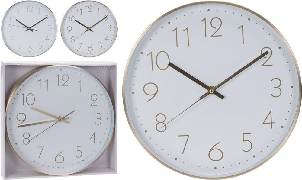 Zegar ścienny w oprawie ze szczotkowanego aluminium
