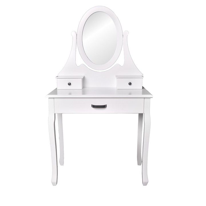 Toaletka / kosmetyczka z lustrem + taboret
