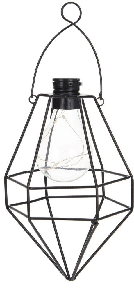 Lampa druciana solarna z żarówką LED II