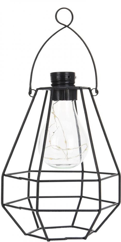 Lampa druciana solarna z żarówką LED I