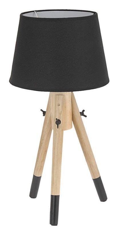 Lampka nocna - czarna