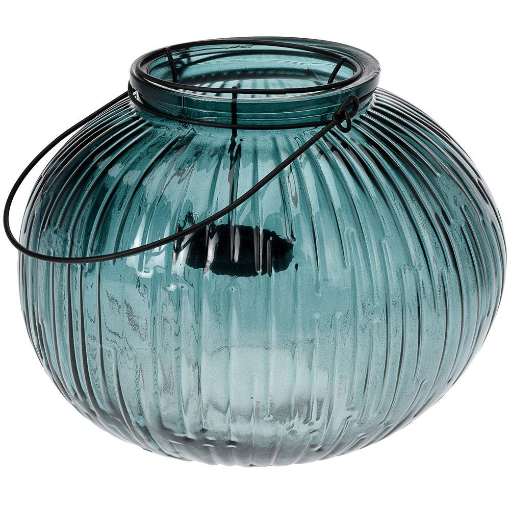 Lampion szklany, wys. 21 cm