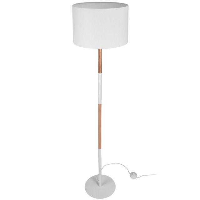 Lampa stojąca - biała