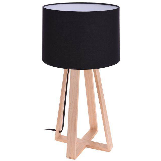 Lampa stołowa czarna