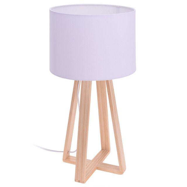 Lampa stołowa biała